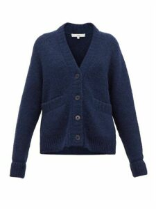Tibi - Cozette Raglan-sleeve Alpaca-blend Cardigan - Womens - Navy
