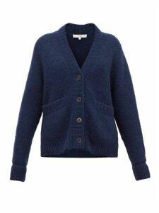 Tibi - Cozette Raglan-sleeve Alpaca-blend Cardigan - Womens - Navy