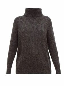 Nili Lotan - Douglass Roll-neck Sweater - Womens - Dark Grey