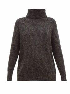 Nili Lotan - Douglass Roll-neck Sweater - Womens - Dark Grey