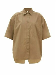 Lee Mathews - Workroom Patch-pocket Cotton Shirt - Womens - Khaki