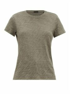 Atm - Schoolboy Slubbed-cotton T-shirt - Womens - Khaki