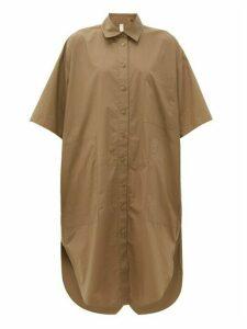 Lee Mathews - Workroom Patch Pocket Cotton-poplin Shirtdress - Womens - Khaki