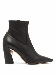 Nicholas Kirkwood - Miri Faux Pearl-embellished Leather Boots - Womens - Black