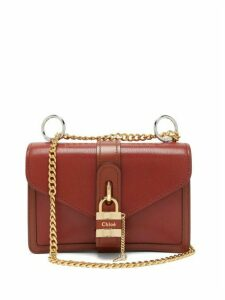 Chloé - Aby Leather Shoulder Bag - Womens - Dark Brown