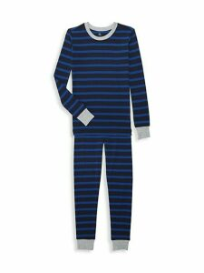 Little Boy's & Boy's 2-Piece Striped Cotton Pajama Top & Pants Set