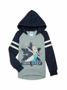 Little Girl's & Girl's Snow Queen Colorblock Hoodie