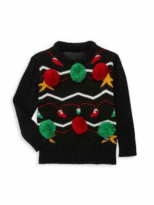 Little Boy's & Boy's Pom-Pom Sweater