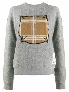 Julien David contrast drawing jumper - Grey