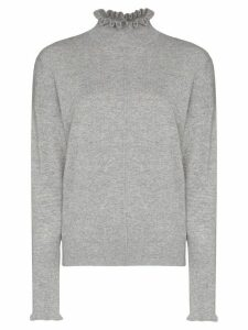 Chloé cashmere ruffle detail jumper - Grey
