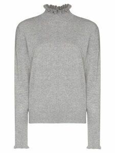 Chloé cashmere ruffle detail jumper - Grey