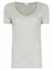 Skin V-neck fitted T-shirt - Grey