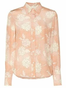 Chloé floral print button-down shirt - PINK