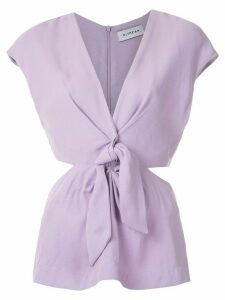 Olympiah Magnolia front knot blouse - PURPLE