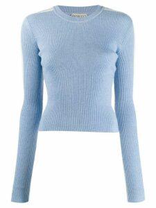 Fiorucci knitted logo jumper - Blue