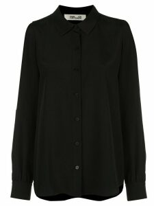Diane von Furstenberg Mariah long sleeved silk shirt - Black