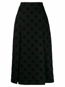 Fendi Karligraphy midi skirt - Black