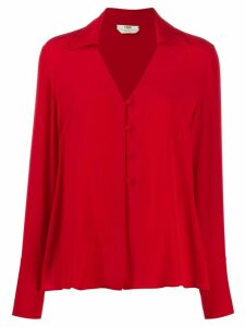 Fendi buttoned blouse - Red