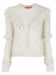 Altuzarra Buckeye fringed jumper - White