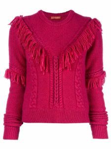 Altuzarra Buckeye fringed knitted top - PINK