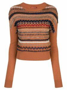 Altuzarra braided embroidery jumper - NUTMEG