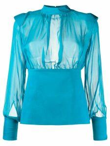 Federica Tosi sheer blouse - Blue