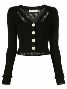 Proenza Schouler White Label Fine Gauge Rib Cropped Knit Cardigan -