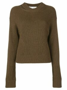 Proenza Schouler White Label Chunky Rib Knit Sweater - Brown