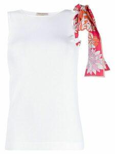 Emilio Pucci bow detail vest top - White