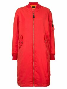 G.V.G.V. zipped long bomber jacket - Red