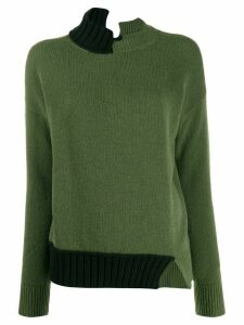 Marni asymmetric knitted jumper - Green