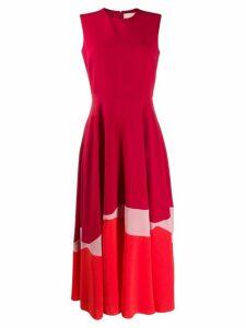 Roksanda Alesi pleated midi dress - Red