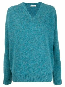 6397 long sleeve V-neck sweater - Blue