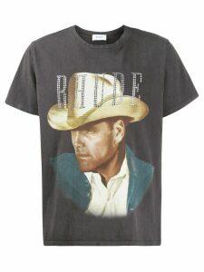 Rhude embellished portrait T-shirt - Black