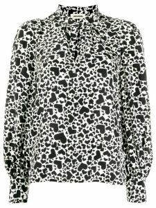 Zadig & Voltaire Heart print two tone blouse - White