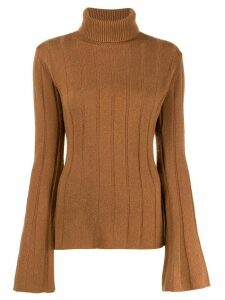 Each X Other ribbed roll neck jumper - Brown