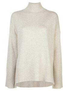 FRAME high low turtleneck jumper - NEUTRALS