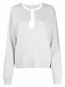 Zadig & Voltaire Watson two tone sweatshirt - Grey