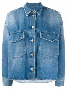 Mm6 Maison Margiela boxy denim blazer - Blue