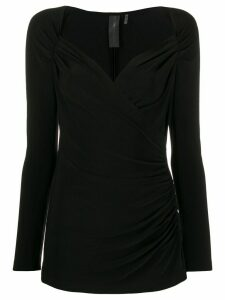 Norma Kamali sweetheart knit jumper - Black