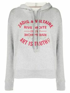 Zadig & Voltaire Art is Truth print hoodie - Grey