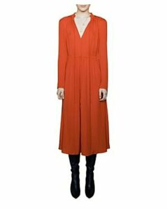 Maje Rouge Shirred Drawstring Midi Dress