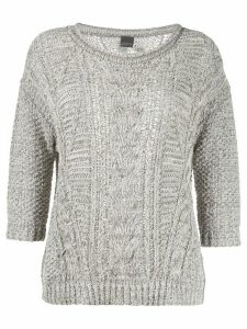 Lorena Antoniazzi cable knit jumper - Grey