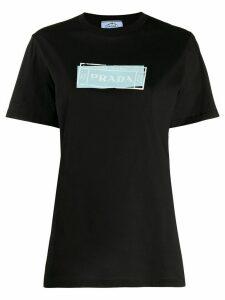 Prada logo print t-shirt - Black