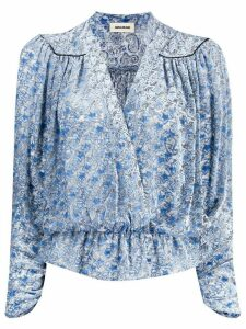 Zadig & Voltaire Star print wrap-front blouse - Blue