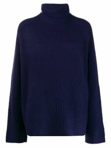 6397 long sleeve turtle neck sweater - Blue