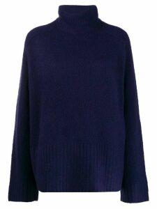 6397 long sleeve turtle neck sweater - Blue