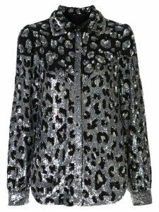 Retrofete glitter leopard shirt - SILVER