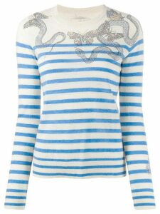 Zadig & Voltaire Miss embellished mariner jumper - NEUTRALS