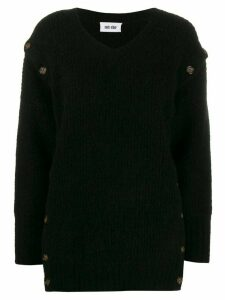Each X Other button detail jumper - Black